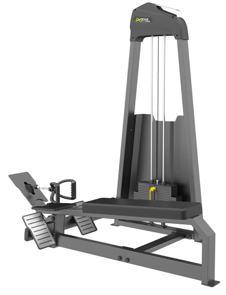 E-3033 Гребная тяга. Горизонтальный блок (Long Pull). Стек 135 кг.